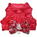 All That Glitters Red Sequin Dog Harness Vest