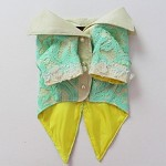 Mint Green Yellow Lace Summer Dog Tuxedo Wedding Jacket