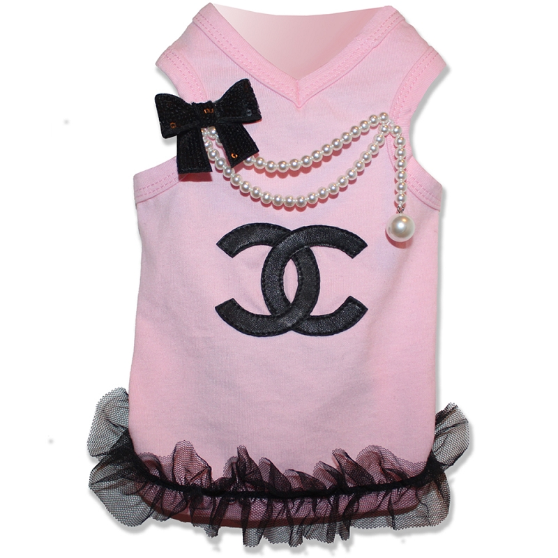 Well-liked Baby Pink Pearl Designer Inspired Dog Glamour Shirt ZE15
