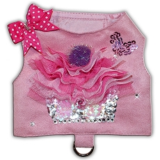 My Cupcake Pink Ultrasuede Dog Harness