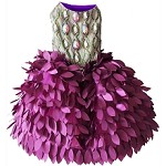 Fuscia Purple Peacock Glamour Dog Dress