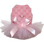Ballerina Pink Tutu Dog Dress
