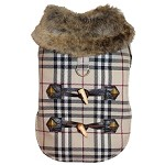 Faux Fur Plaid Winter Dog Coat
