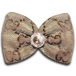 Beige Swarovski Fashion Hair Bow